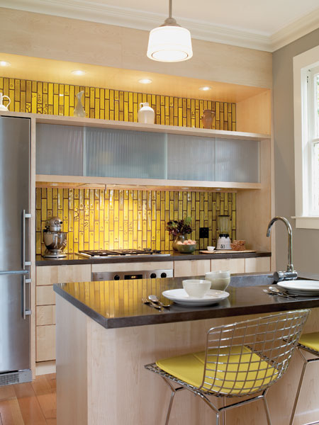 Incroyable Yellow Kitchen Backsplash